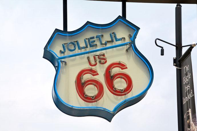Joliet og tankstationer på Route 66