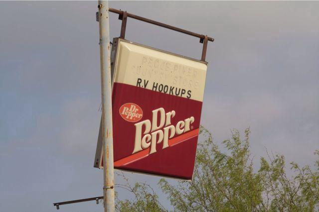 En nedslidt Dr. Pepper