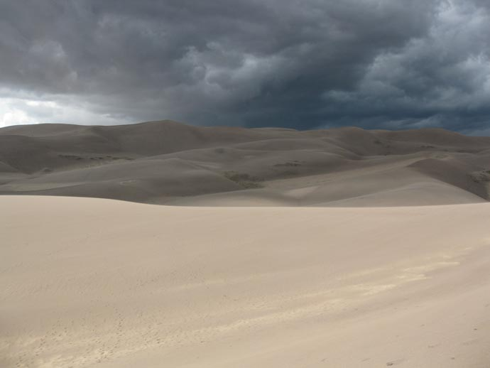 Uvejr over Great Sand Dunes National Park