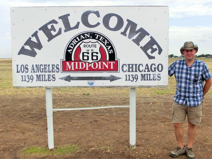 Halvvejs på Route 66, Santa Fe og neon i Albuquerque