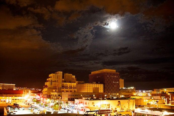 Albuquerque skyline night