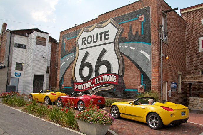 Pontiacs i Pontiac på Route 66