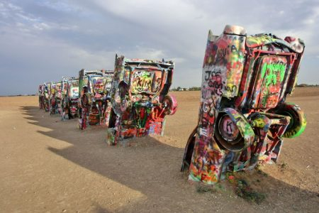 Cadillac Ranch på Route 66