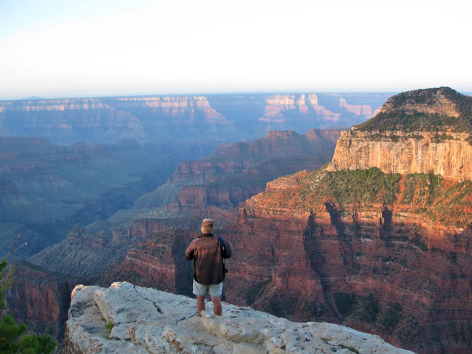 Solopgang ved Grand Canyon North Rim