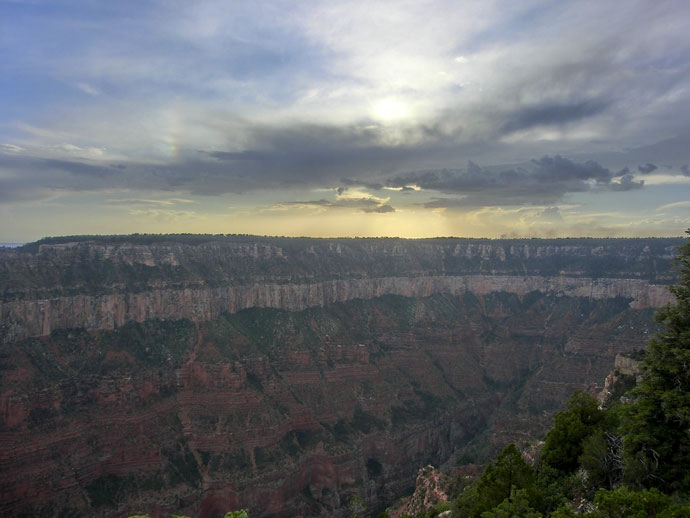 Grand Canyon North Rim ved solnedgang
