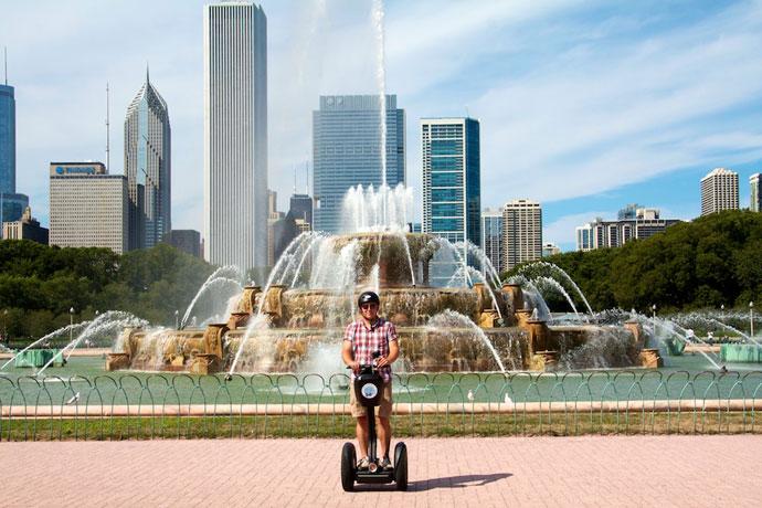 Arkitektur-tur og segway i Chicago