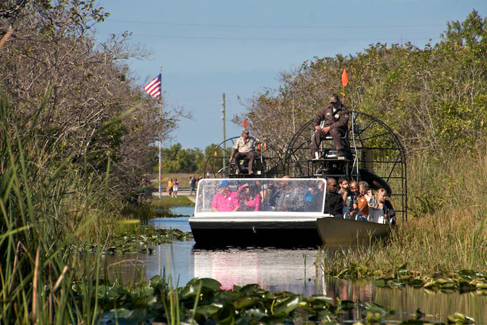 Airboat tur i Everglades, Miami, Florida