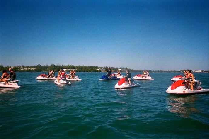 Jetski i Key West mod tømmermænd