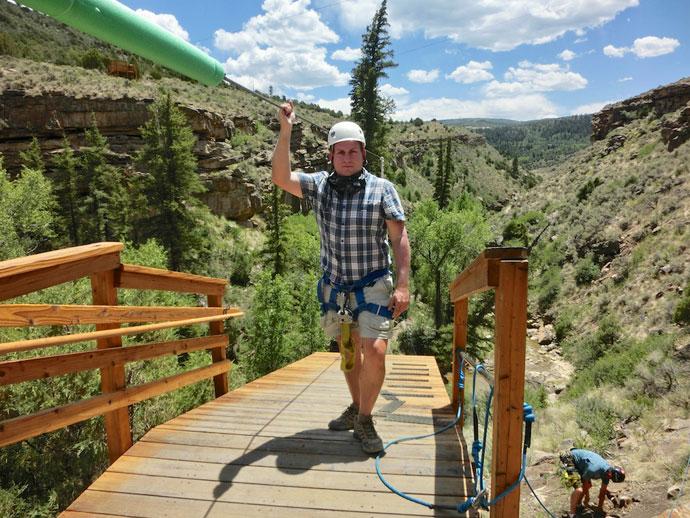 Zipline tur, Vail Colorado