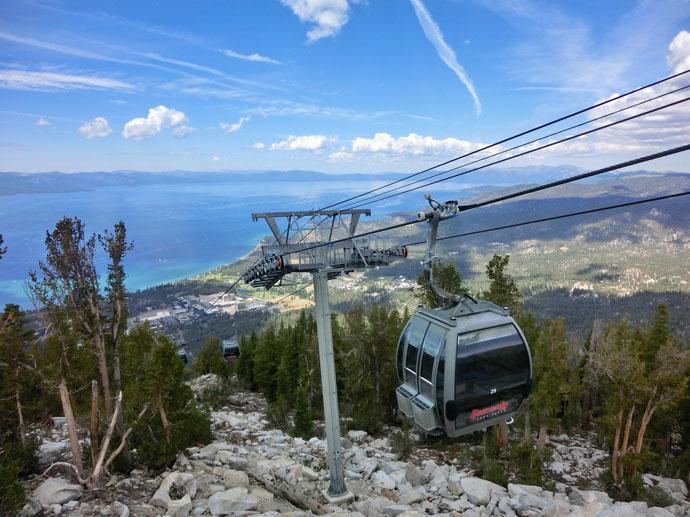 Lake Tahoe – til lands og i luften
