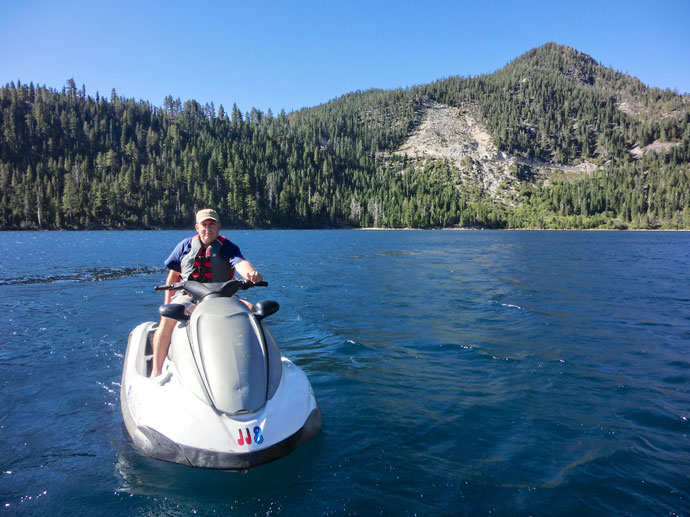 Jetski på Lake Tahoe