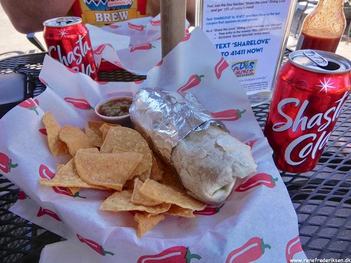 Frokost i Mt. Shasta