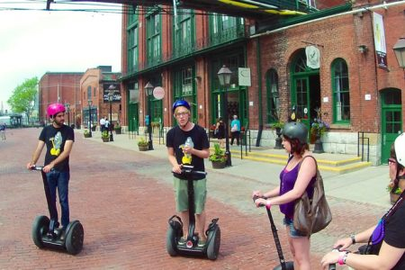 Segway tour i Distillery District, Toronto