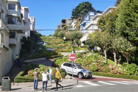 Lombard Street og bustur i San Francisco