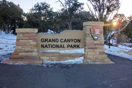 Grand Canyon ved solopgang og skiløb ved Flagstaff