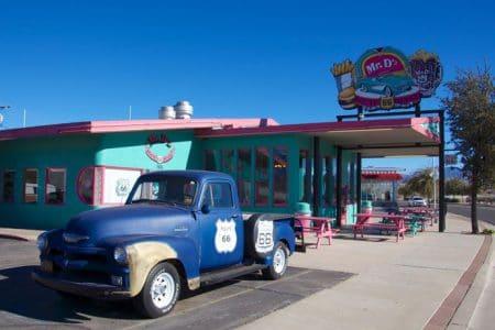 Via Route 66 diner til Las Vegas