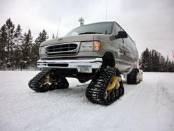 Forholdene i Yellowstone Natl. Park er ekstreme om vinteren.