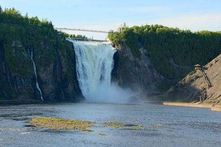 Montmorency Falls i Quebec City