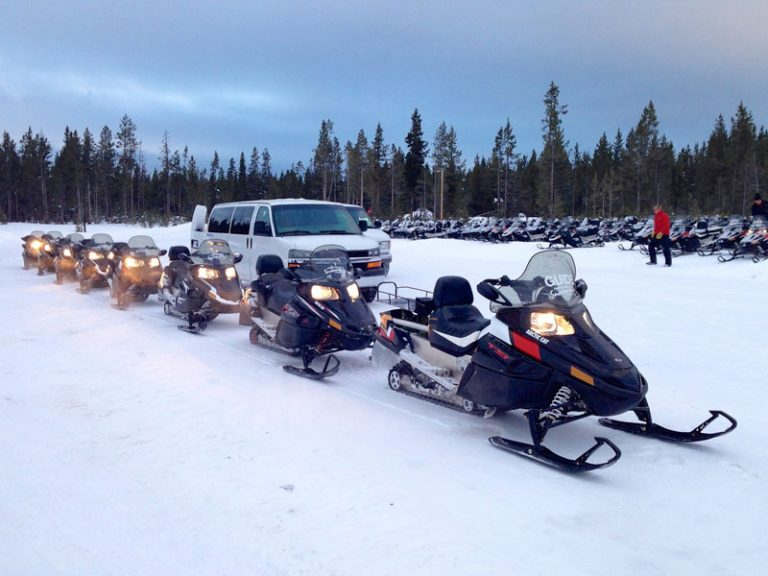Snescooter tur i Yellowstone National Park – dag 1