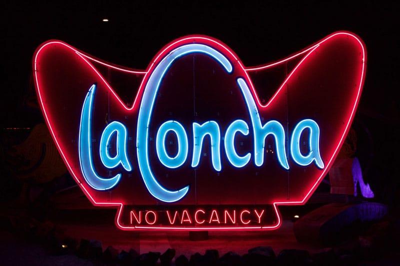 La Concha motel neon sign - The Neon Museum Las Vegas