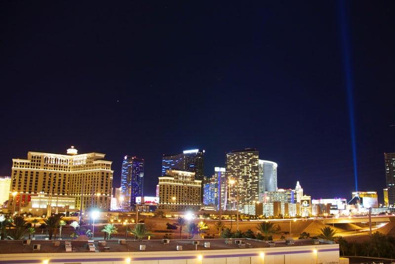 Las Vegas skyline from Rio casino.