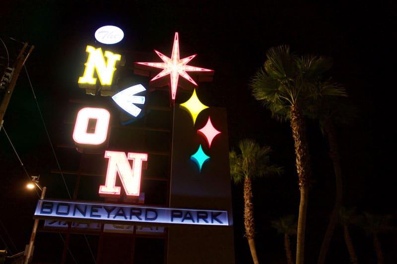 The Neon Boneyard neon museum sign in Las Vegas