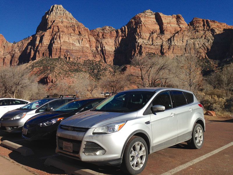Ford Escape in Zion National Park.