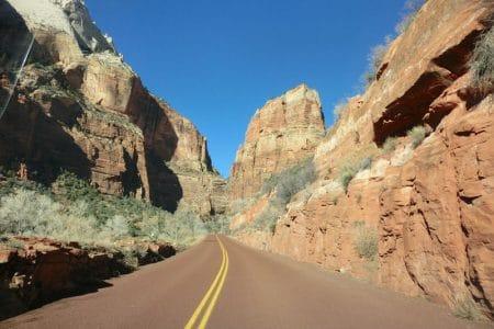Zion National Park fra Bryce og videre til Las Vegas