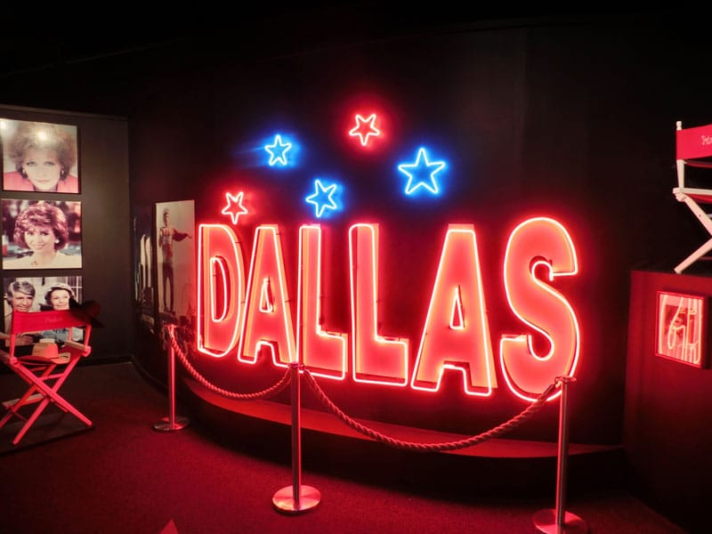 dallas neon sign at southfork ranch