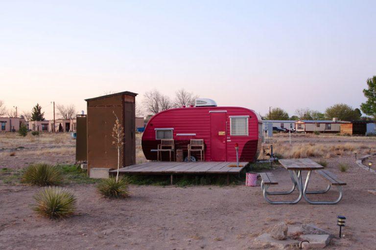 El Cosmico campingplads i Marfa