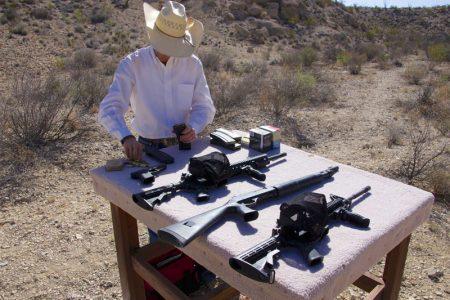 Skydning på Combat Course i Texas