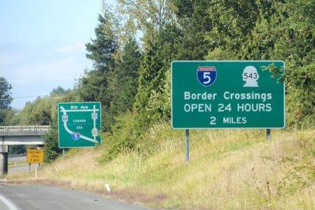 Krydse grænsen til Canada i lejebil
