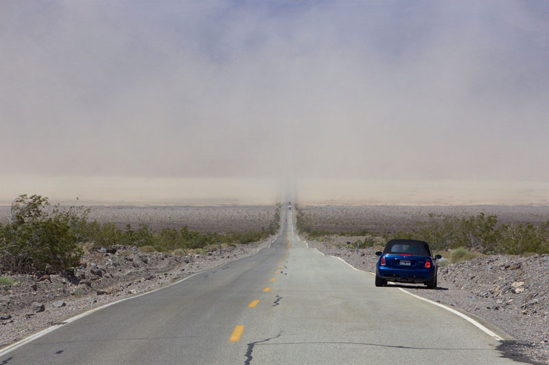 Sandstorm i Death Valley