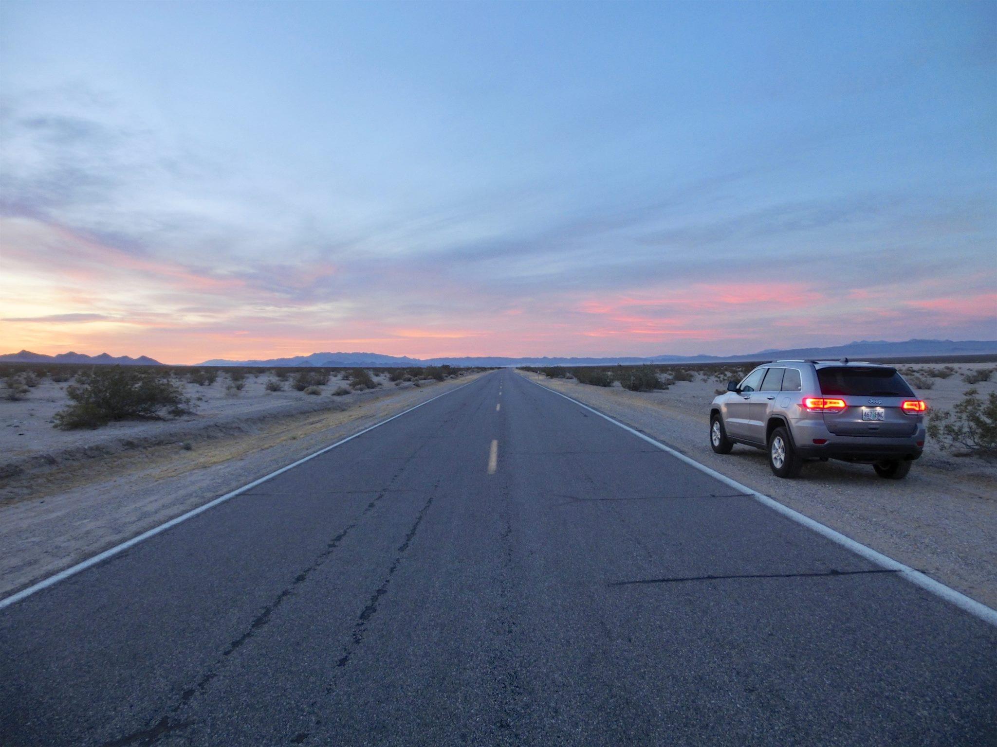 Solnedgang i ørkenen