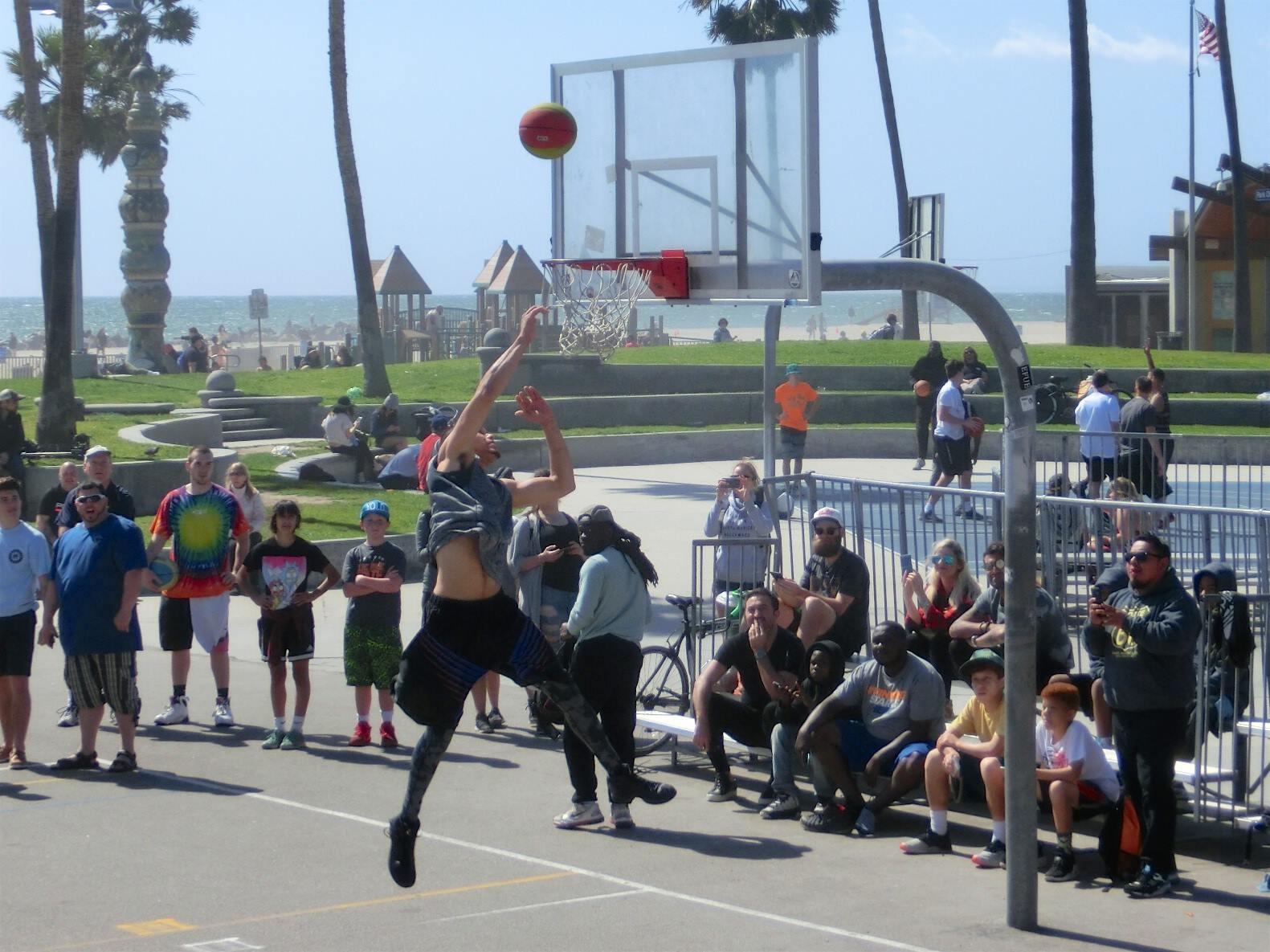 Basketball på Venice Beach