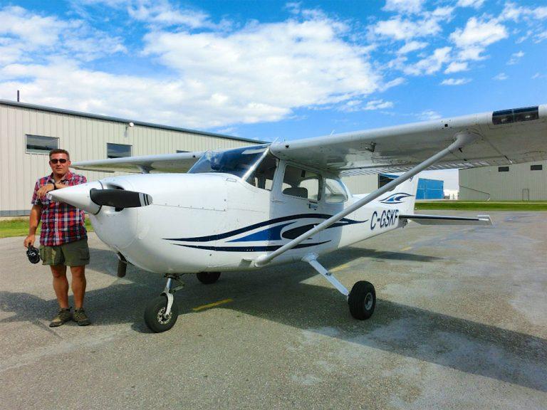 Prøvetime som pilot ved Calgary