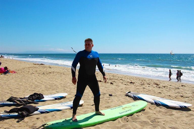 Surfing på Venice Beach
