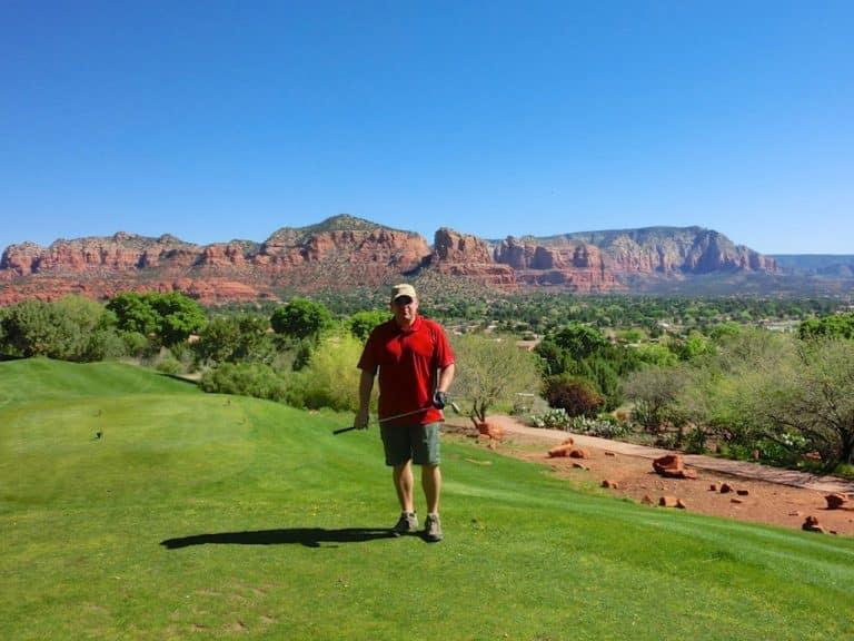 En runde golf i Sedona, Arizona