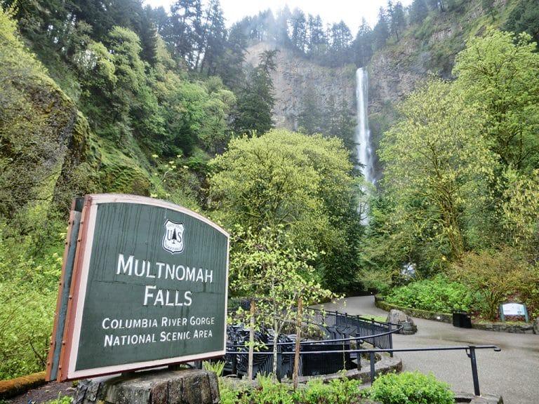 Multnomah Falls ved Portland, Oregon