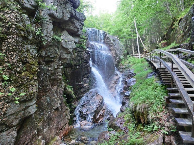 Flume Gorge i Franconia Notch State Park