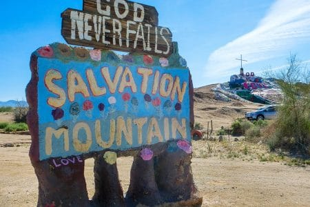 Salvation Mountain og Salton Sea