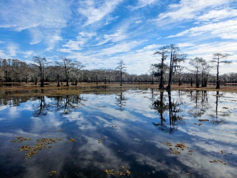 Caddo Lake og byen Uncertain