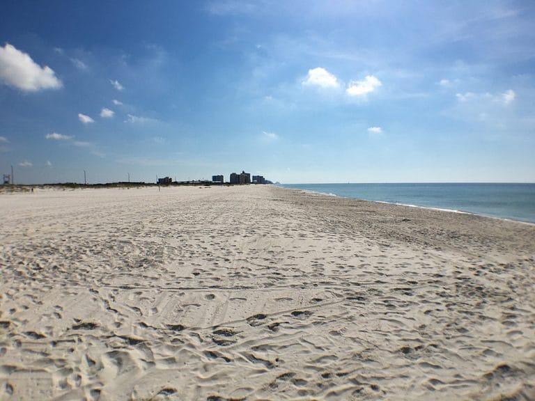 Strande langs Alabama og Floridas Golfkyst