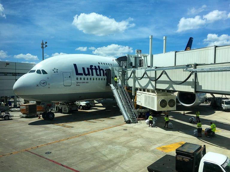 København via Frankfurt til Houston