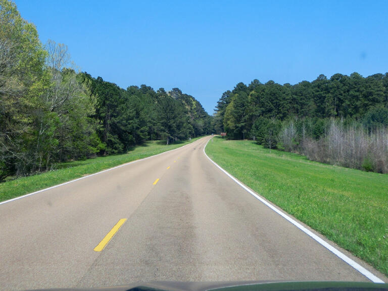 Natchez Trace Parkway til Tupelo